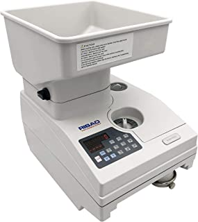 Ribao HCS-3500AH Coin Counter, Heavy Duty Bank Grade Anti-Jam Coin Sorter with Motorized Hopper, Two-Year Warranty