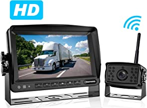 Yuesem Digital Wireless Backup Camera System Kit with 7'' Monitor,IP69 Waterproof,Guide Lines ON/Off,Rear View Reverse Camera for Truck/Trailer/Bus/RV/Pickups/Motorhome/Van/5th Wheels