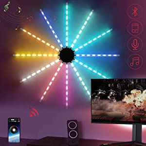 Neon Signs for Wall Decor, Customizable APP Night Light, Smart LED Light Wall Decor, Cute Room Decor Neon Sign for Wall Art Christmas Living Room Bedroom Bar Party DIY Lamp Change with The Music