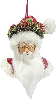 Darice Santa Head Plush Christmas Ornament Standard