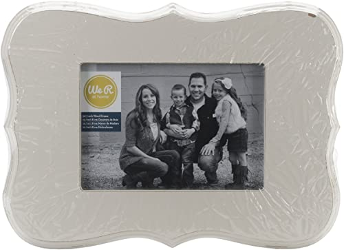 buscando agente de ventas We R Decorative Decorative Decorative Wooden Frame 12.5 X9  (7 X5  Photo)-Cream  para barato