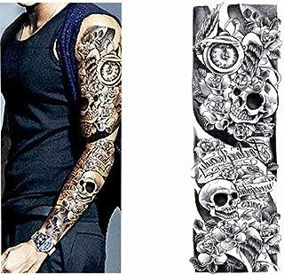7pcs Oro adhesivo de papel de tatuaje del brazo del tatuaje mangas ...