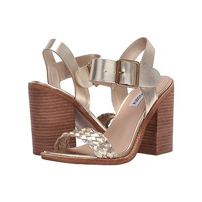 Steve Madden Cadence Heeled Sandal (Gold Leather) High Heels