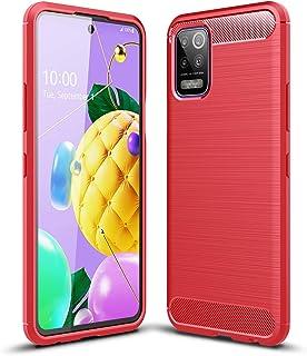 zl one Compatível com/substituição para capa de telefone LG K52 / K62 / Q62 Capa traseira ultrafina TPU (Vermelho)