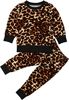 Toddler Kids Baby Girls' 2 Pieces Velvet Tops Pants Leggings Clothes Set Outfit
