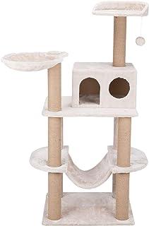 Federico Cat Tower with Scratching Posts, Condo, Platform, Hammock, Dangling Pom-Pom