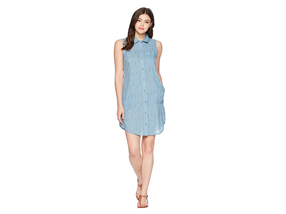 Toad&Co Indigo Ridge Sleeveless Dress (Light Indigo Arrow Print) Women