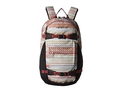 Burton Dayhiker 25L (Aqua Gray Revel Stripe Print) Day Pack Bags