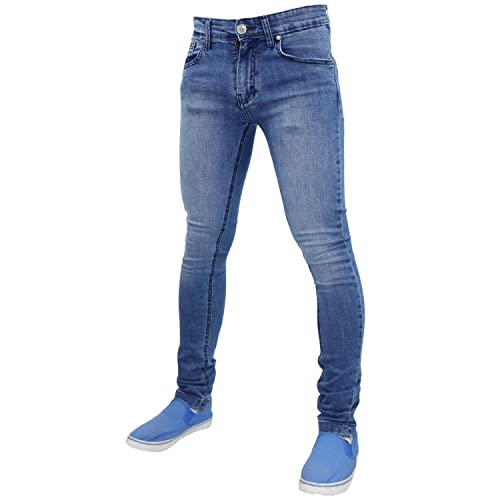 270e9d2b074 True Face Mens Skinny Slim Fit Stretchable Denim