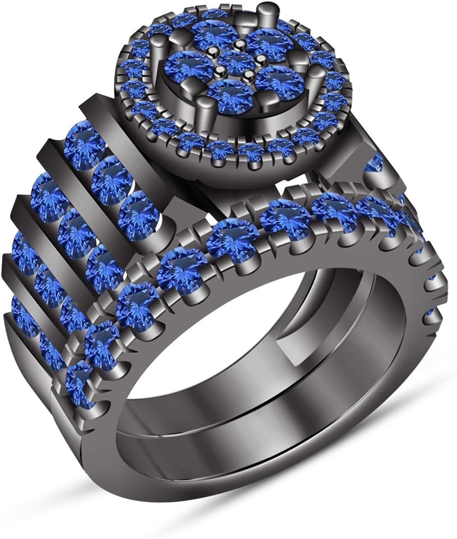 Vorra Fashion Verlobungsring 925Sterling-Silber Damen-Ring-Set, bequeme Passform