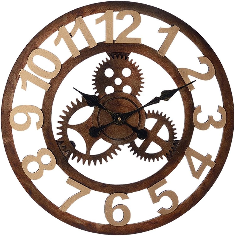 barato ZHENAI Tridimensional Hueco Retro Industrial Industrial Industrial Engranajes De Viento Relojes Y Relojes Creative Relojes De Parojo Tienda De Café Bar Personalizado Decoración De Parojo ( Tamao   D-51cm )  los clientes primero