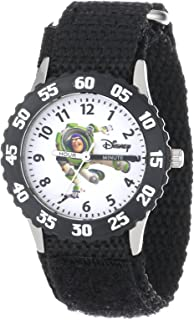 Disney Kids' W000060 Toy Story 3 Buzz Lightyear Stainless Steel Time Teacher Watch