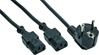 Inline 16653 1.8m AC Power Y-Cord - Black