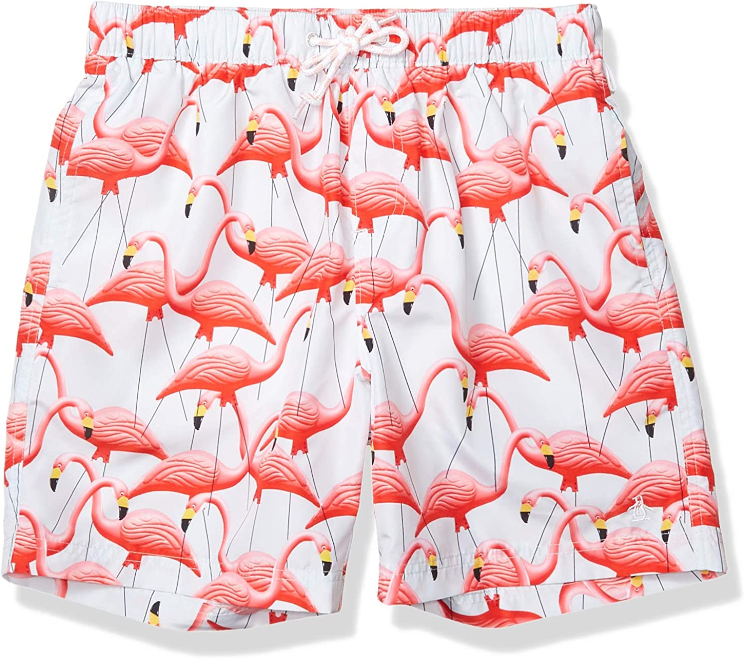 Original Penguin Men's Standard Printed Elastic Waist Volley Swim Short