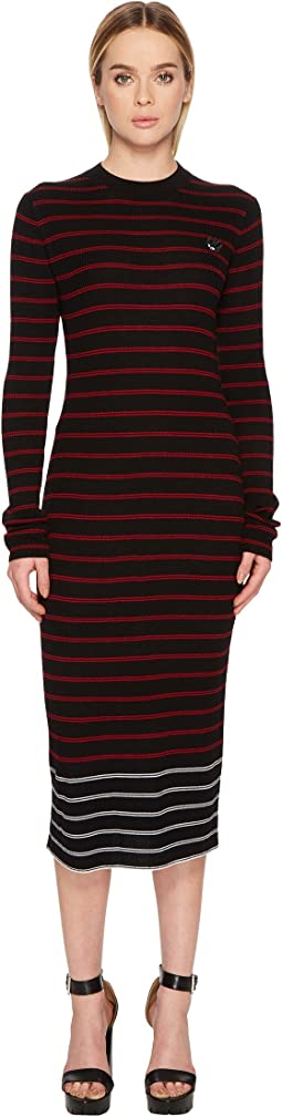 Swallow Distorted Striped Dress