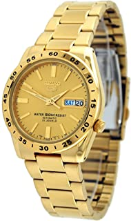 5 #SNKE06 Men's 50M Gold Tone Self Winding Autoamtic Watch