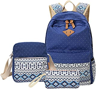 comprar comparacion MingTai Backpack Mochilas Escolares Mujer Mochila Escolar Lona Bolsa Casual Para Chicas Bolsa De Hombro Mensajero Billetera