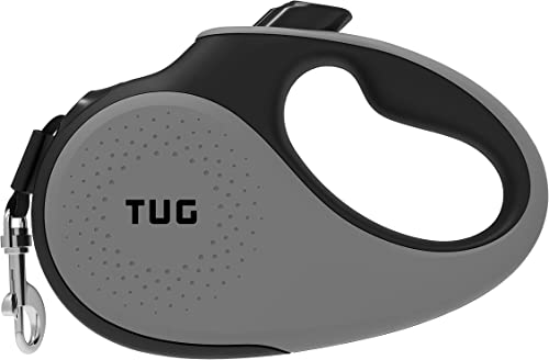 TUG 360° Tangle-Free, Heavy Duty Retractable Dog Leash with Anti-Slip Handle; 16 ft Strong Nylon Tape/Ribbon; One-Han...
