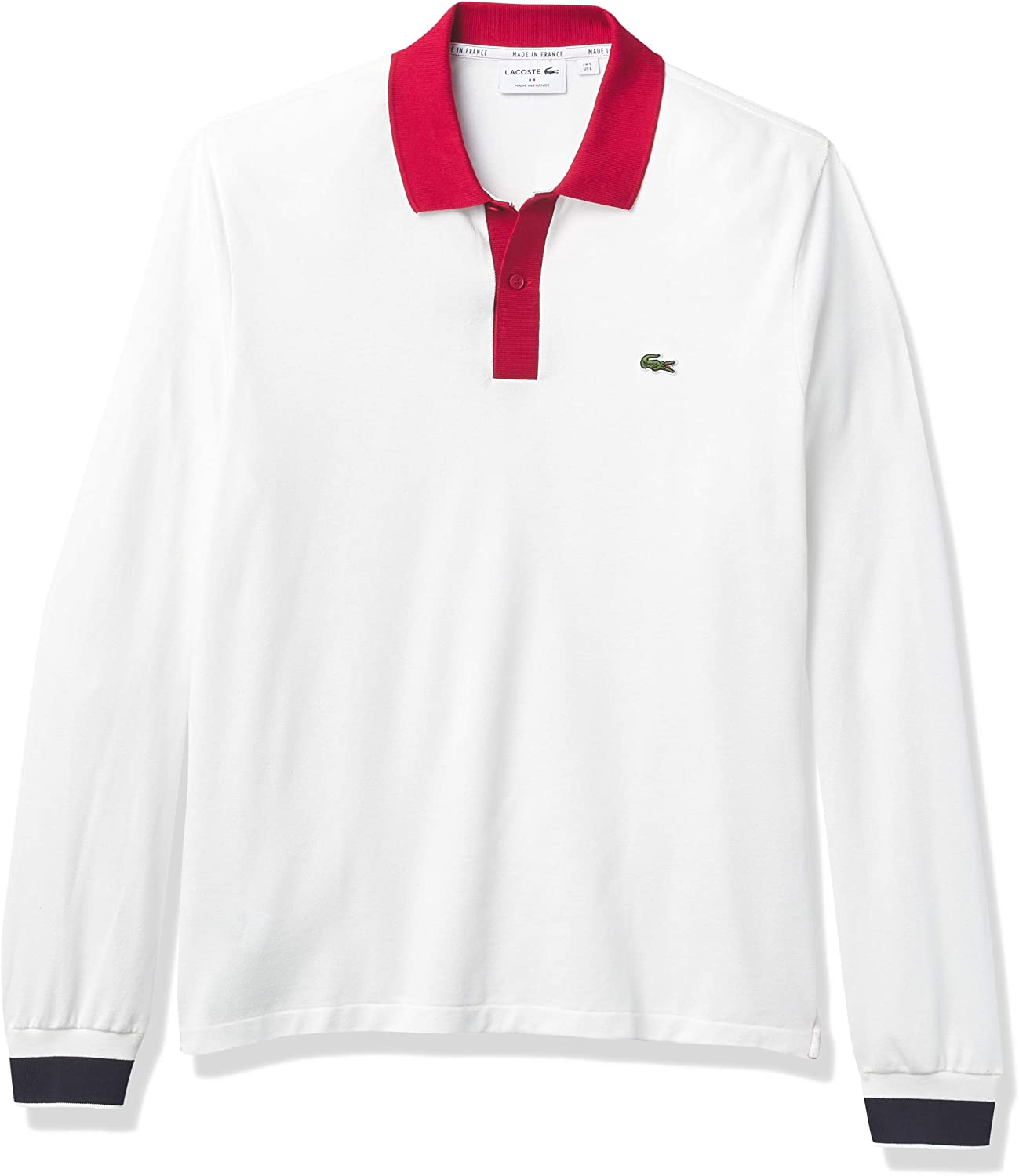 Lacoste Men's Max 68% OFF Long Sleeve Made Large-scale sale in France Semi-Fancy Polo Pique S