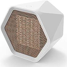 Nlight CalefactorCerámico600WTermoventiladorCeràmicoconTermostato,CalentadorEléctricoCerámicocon2ConfiguracionesDeCalefacción VentiladorFríoMiniVentiladorCalefactorCerámica