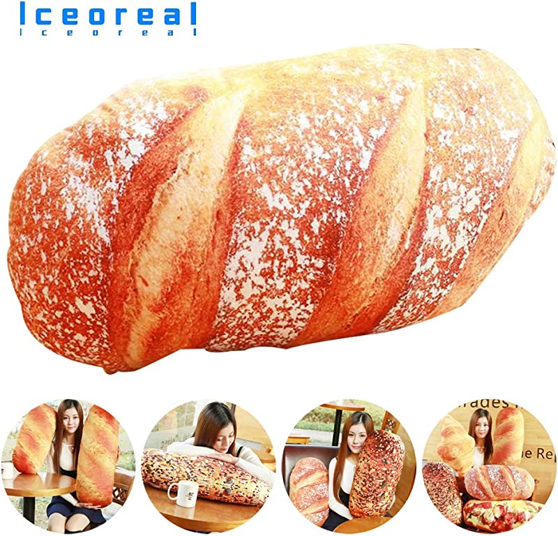 3D Bread Pillow Creative Soft Plush Back Cushion Toy Simulation Pizza Croissant Shape Home Decor Pillows