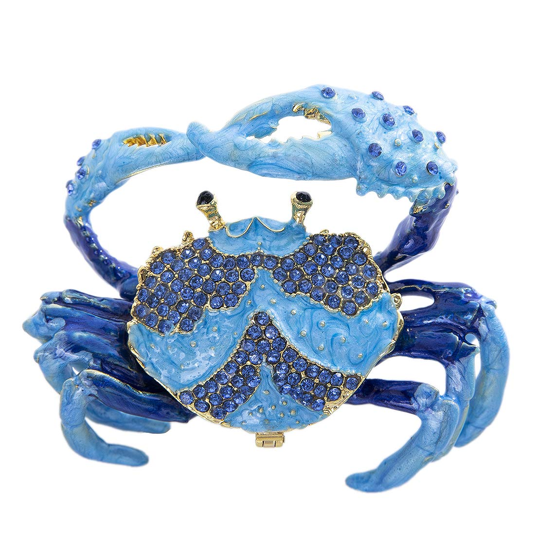 Image of Sparkling Blue Crab Jeweled Box - See More