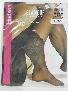 Hudson Glamour Straps-Strumpf mit breitem Spitzenabschluß teint Gr. 1