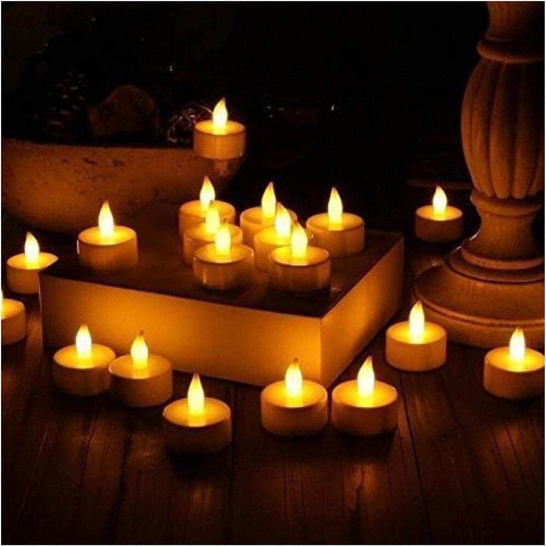 1 year warranty Jgzwlkj Candle Lights 6pcs Electronic Tea Omaha Mall Light LED Batte