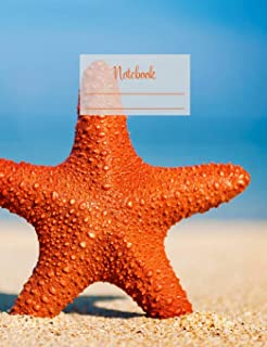 """Notebook: Composition Notebook. College ruled with soft matte cover. 120 Pages. Perfect for school notes, Ideal as a journal or a diary. 9.69"""" x ... idea. (Starfish 