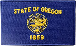 Oregon State Flag OR Patch Embroidered Iron On Sew On Emblem