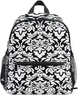 Black And White Designs Patterns School Backpack for Girls Kids Elementary School Bag Mini Backpacks