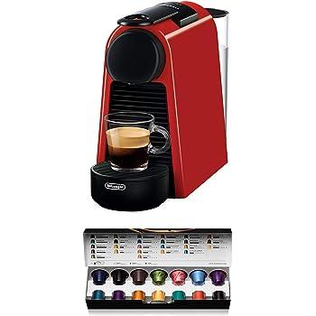 Nespresso DeLonghi Essenza Mini EN85.R - Cafetera monodosis de cápsulas Nespresso, compacta, 19 bares, apagado automático, color rojo: Amazon.es: Hogar