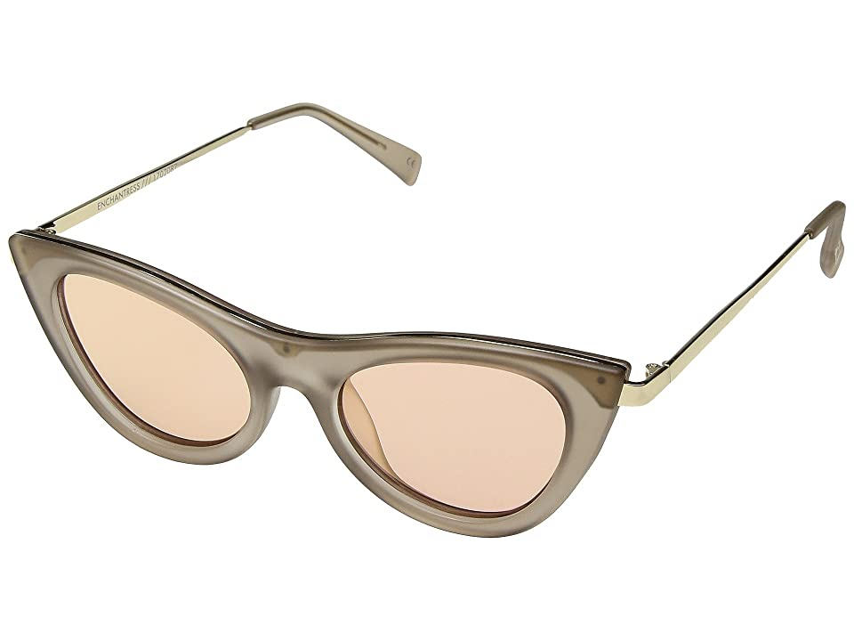 Le Specs Enchantress (Matte Stone/Apricot Tint Mirror) Fashion Sunglasses