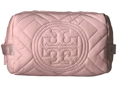 Tory Burch Fleming Quilted Nylon Cosmetic Case (Mineral Pink) Cosmetic Case