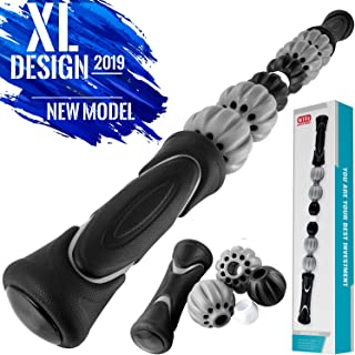Muscle Roller Stick - 19.5 Inches - Body Massage Roller Stick Tool for Athletes, Massage Stick for Relieving Muscle Soreness, Soothing Cramps, Massage Roller Stick, Physical Therapy & Body Recovery