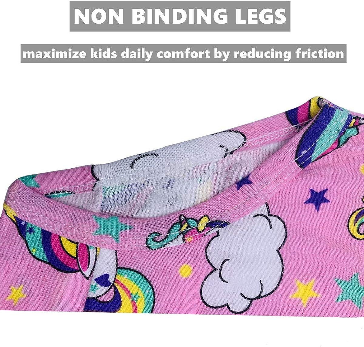 Yzjcafriz Little Girls 100/% Cotton Cute Thick Underwear Toddler Briefs Kids Soft Panties