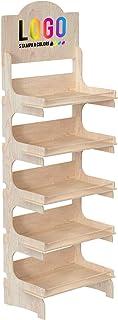 Cemab Europe (53 cm) - Présentoir en bois à 5 étages avec montage par emboîtement - Étagère de rangement autonome pour pro...