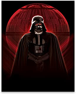 EntertainArt Star Wars Vader Red Glowing Death Star Gallery Wrapped Canvas