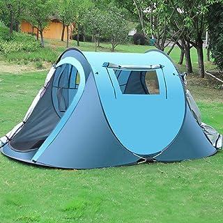 DorisAA Campingtält enkel inställning 3-4 personer utomhus snabb automatisk öppning tält vattentätt regntätt tak solskydd ...