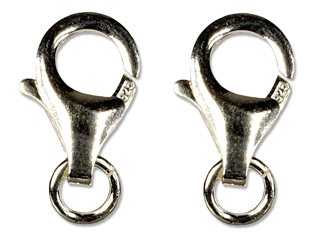 Cousin 2949404 7x13 mm Sterling Lobster Claw, 2 Pieces, 7 by 13 mm, Silver