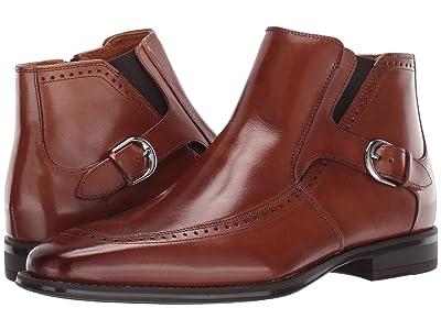 Stacy Adams Patton Moc Toe Zip Boot (Cognac) Men