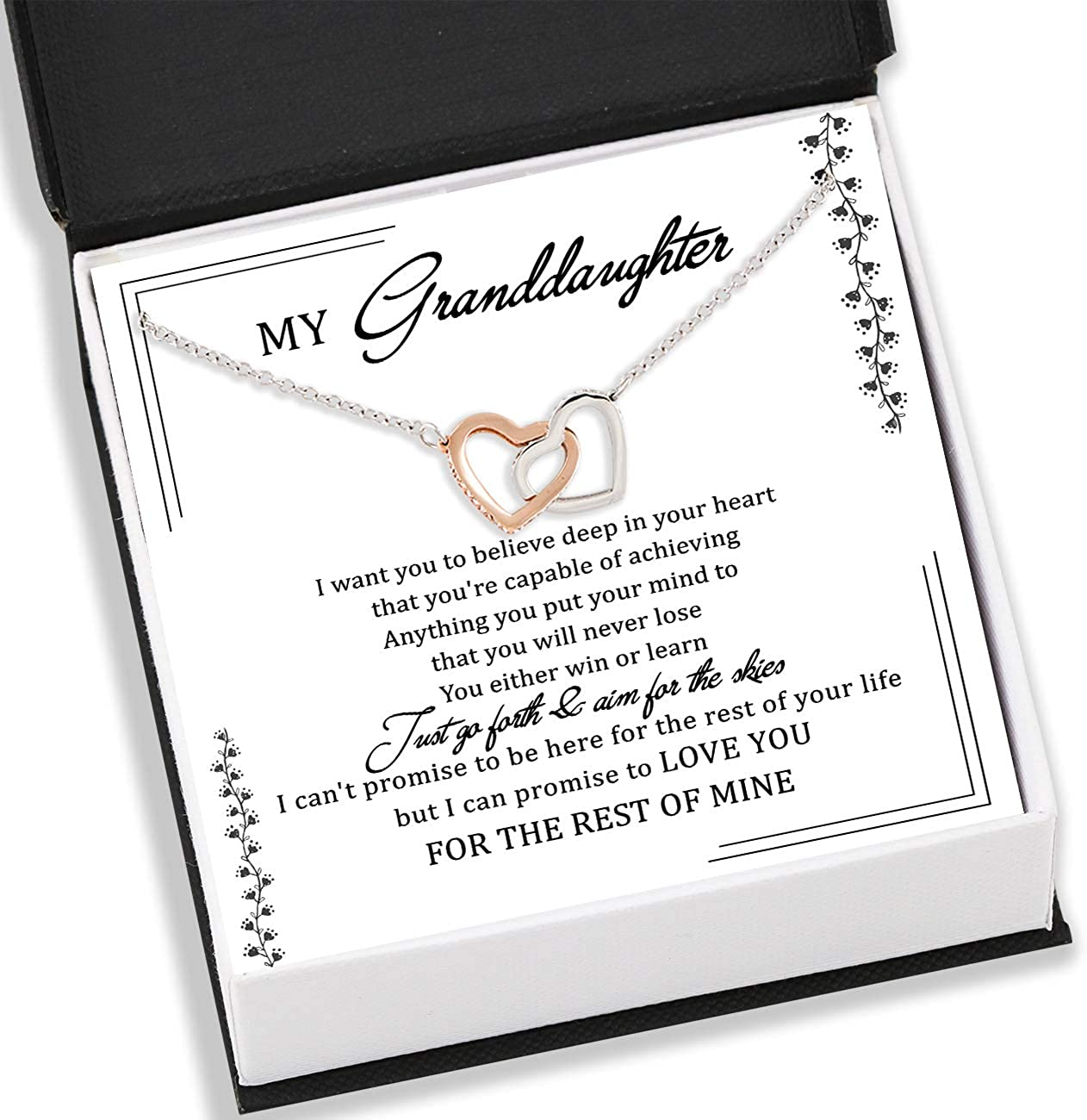 TeezWonder NEW Granddaughter 2021 model Neckace Customize to - Name Granddaugh