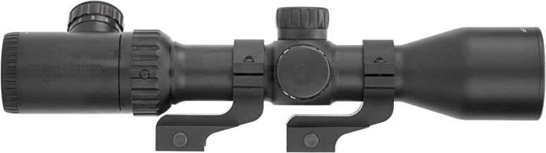 Monstrum 3-12x42 AO Rifle Scope with Illuminated Mil-Dot Reticle and Offset Reversible Scope Rings
