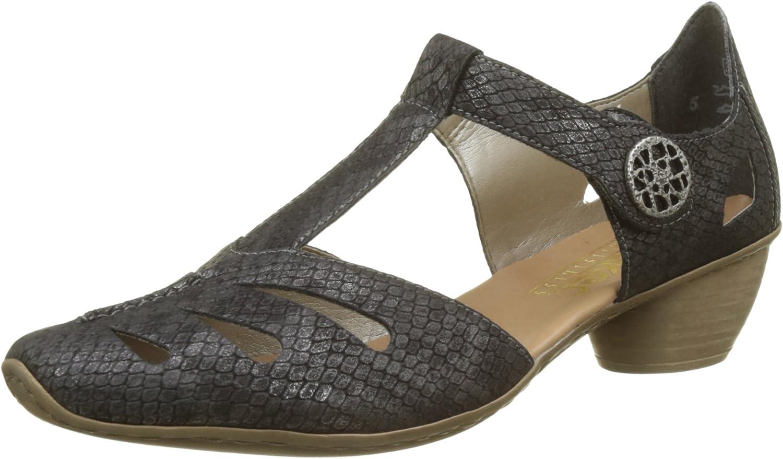 Rieker Metallic T Strap Heel (43750)