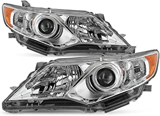 ACANII - For 2012-2014 Toyota Camry Projector Headlights Headlamps Replacement Driver + Passenger Side