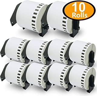 BETCKEY - 10PK Compatible Brother DK-2205 Continuous Length Paper Tape Labels 62mm x 30.48m(2-3/7