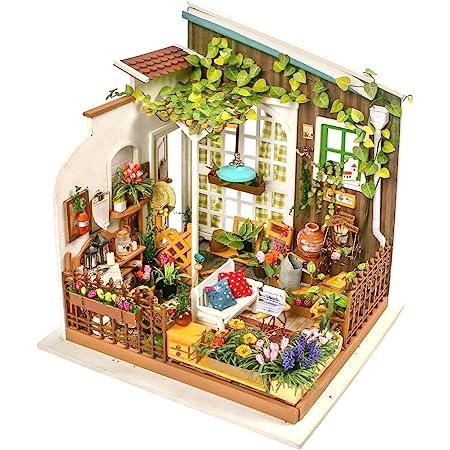 つくるんです®【日本公式販売/日本語説明書付】Robotime DIY ミニチュアハウス ドールハウス DG108 ガーデン
