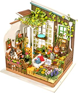 (Miller's Gardon) - ROBOTIME DIY Miniature Dollhouse Kit Garden House with Furniture Sets Best Gifts for Adults & Kids