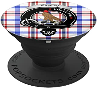 Boswell Clan Badge and Tartan - PopSockets Grip and Stand for Phones and Tablets
