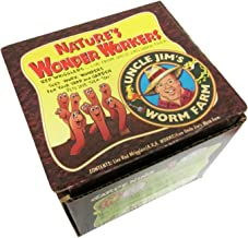 Uncle Jim's Worm Farm 250 Count Red Wiggler Live Composting Worms
